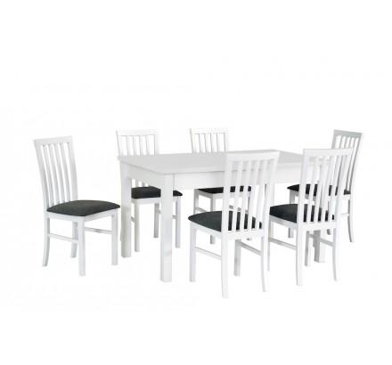 Stół Modena 1, 6x krzesła Milano 1