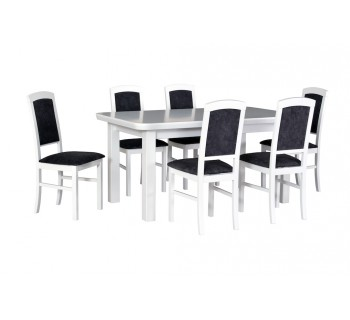 Stół Wenus 5 S, 6x krzesła Nilo 4