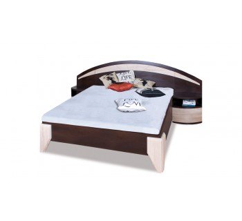 Łóżko DL1-1 Dome z szafkami nocnymi