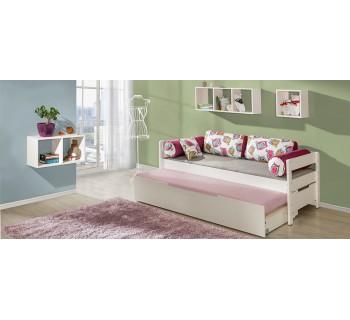 Drewniane łóżko rozkładane BORYS (łóżko B1 + łóżko dolne B2)
