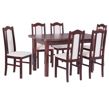 Stół Wenus 2 laminat, 6x krzesła Boss 2