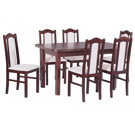 Stół Wenus II L laminat, 6x krzesła Boss II