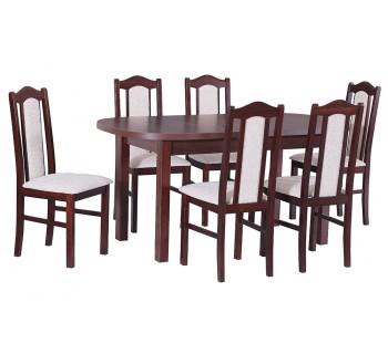 Stół Wenus 1 laminat, 6x krzesła Boss 2