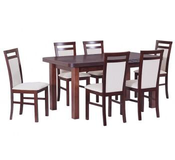 Stół Wenus 5 okleina, 6x krzesła Milano 5