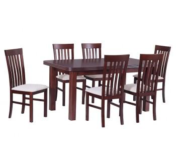 Stół Wenus 5 okleina, 6x krzesła Milano 2