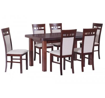 Stół Wenus 5 okleina, 6x krzesła Milano