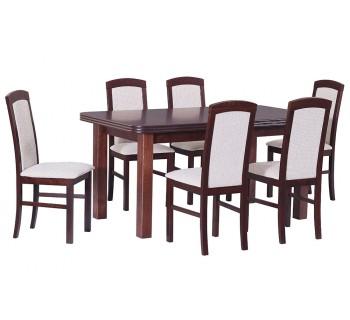 Stół Wenus 5 okleina, 6x krzesła Nilo 5