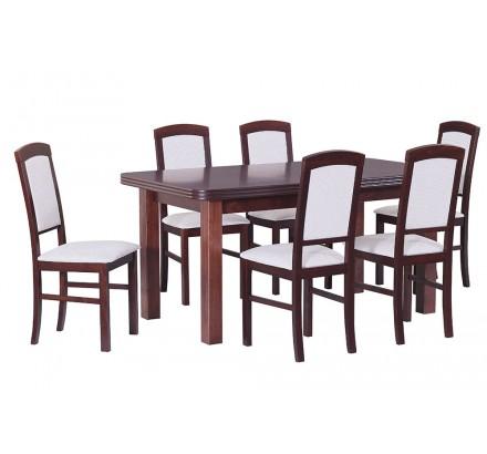 Stół Wenus 5 okleina, 6x krzesła Nilo 4