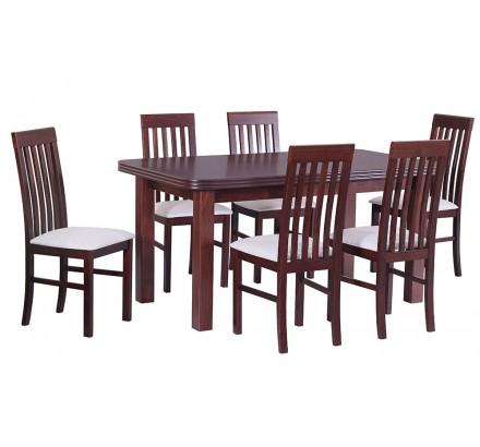 Stół Wenus 5 okleina, 6x krzesła Nilo 1