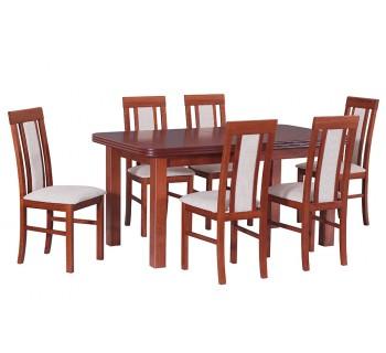 Stół Wenus 5 okleina, 6x krzesła Nilo 2