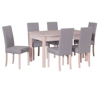 Stół Modena I laminat, 6x krzesła Roma II
