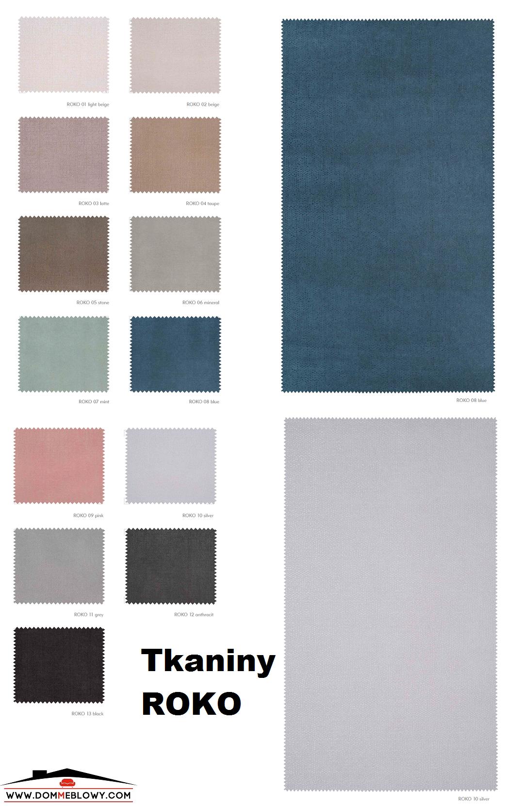 Tkaniny Rokko dla mebli tapicerowanych producenta Meblosoft