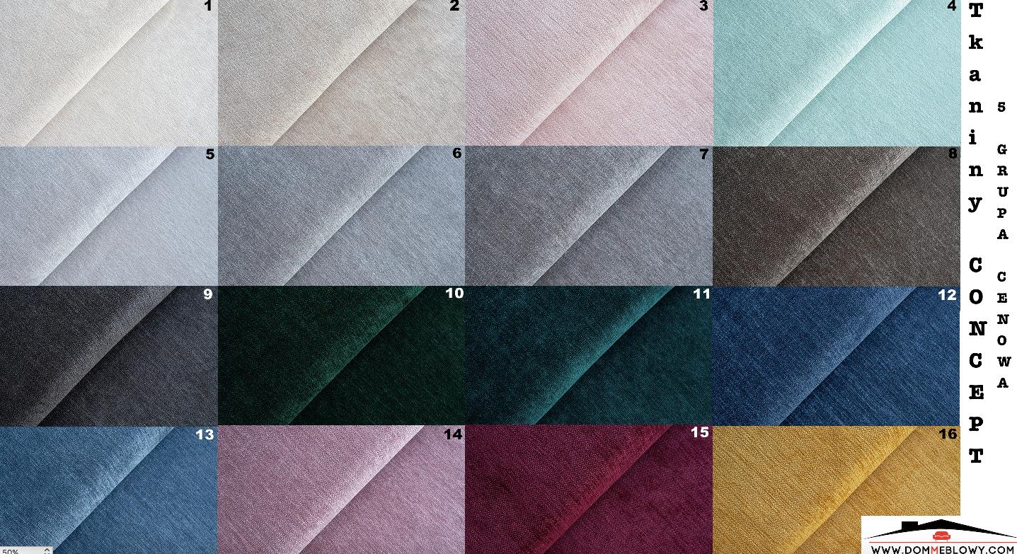 Tkaniny Concept dla mebli tapicerowanych producenta Meblosoft