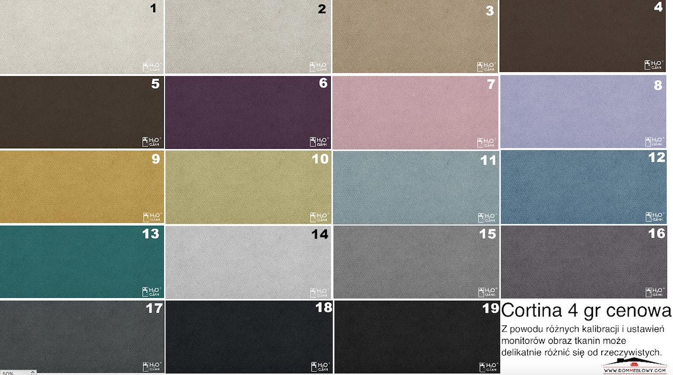 Tkaniny Cortina marki Tocarre dla mebli tapicerowanych producenta Meblosoft