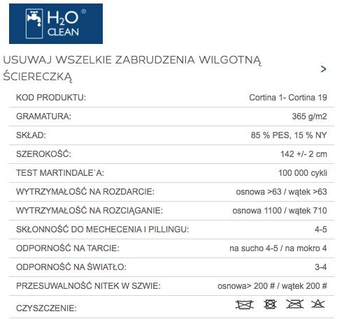 Tkaniny Cortina marki Tocarre z technologią h2o clean dla mebli tapicerowanych producenta Meblosoft