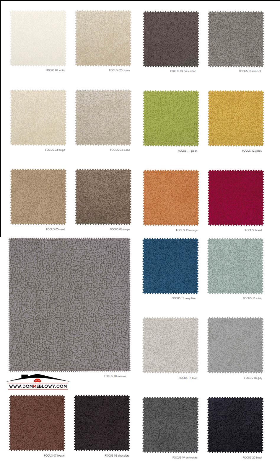 Tkaniny Focus dla mebli tapicerowanych producenta Meblosoft