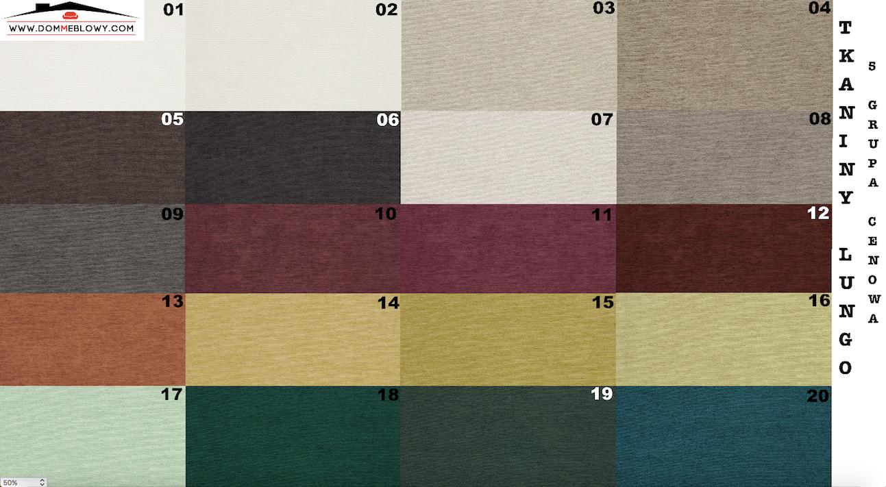 Tkaniny Lungo marki Toccare dla mebli tapicerowanych producenta Meblosoft