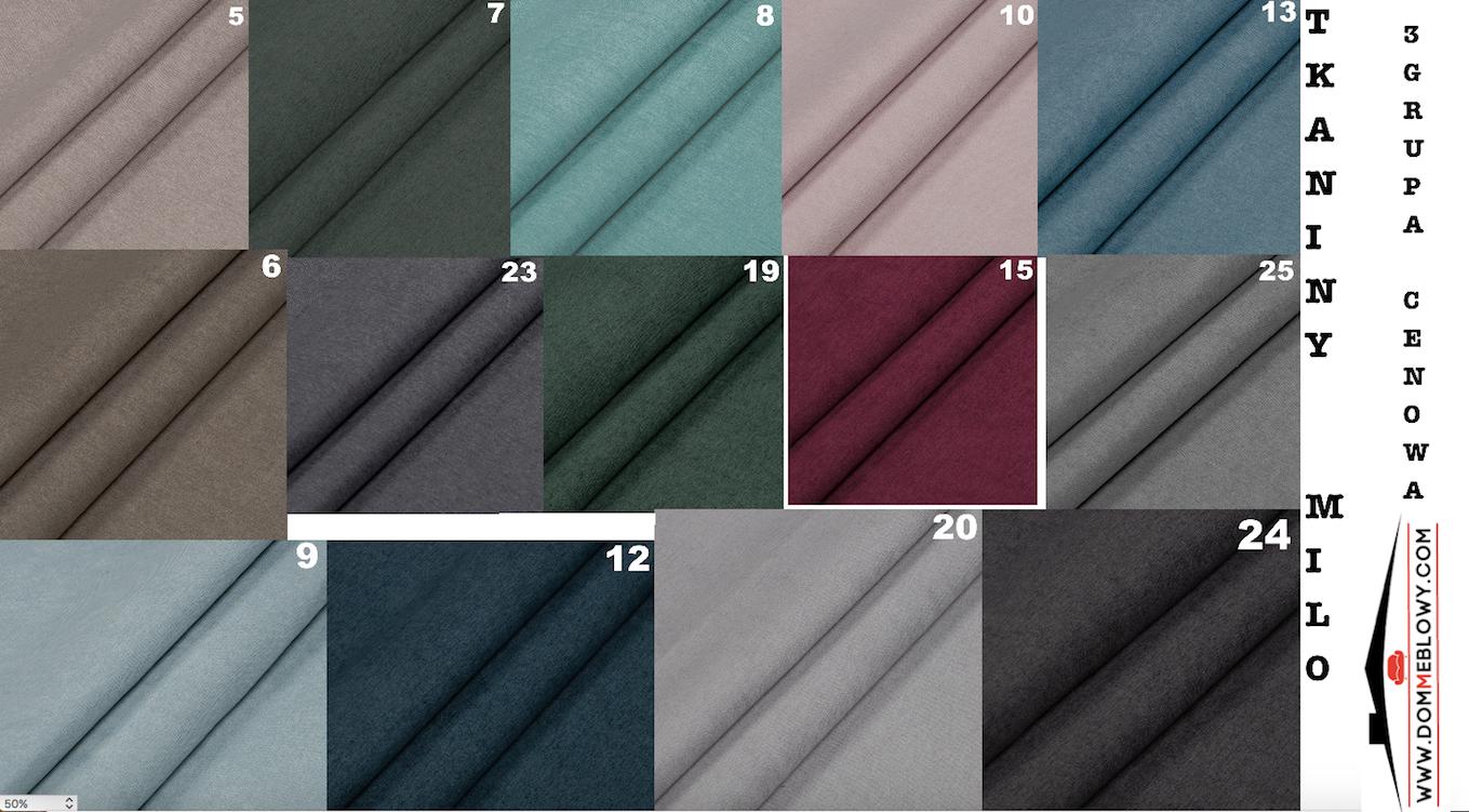 Tkaniny Milo dla mebli tapicerowanych producenta Meblosoft