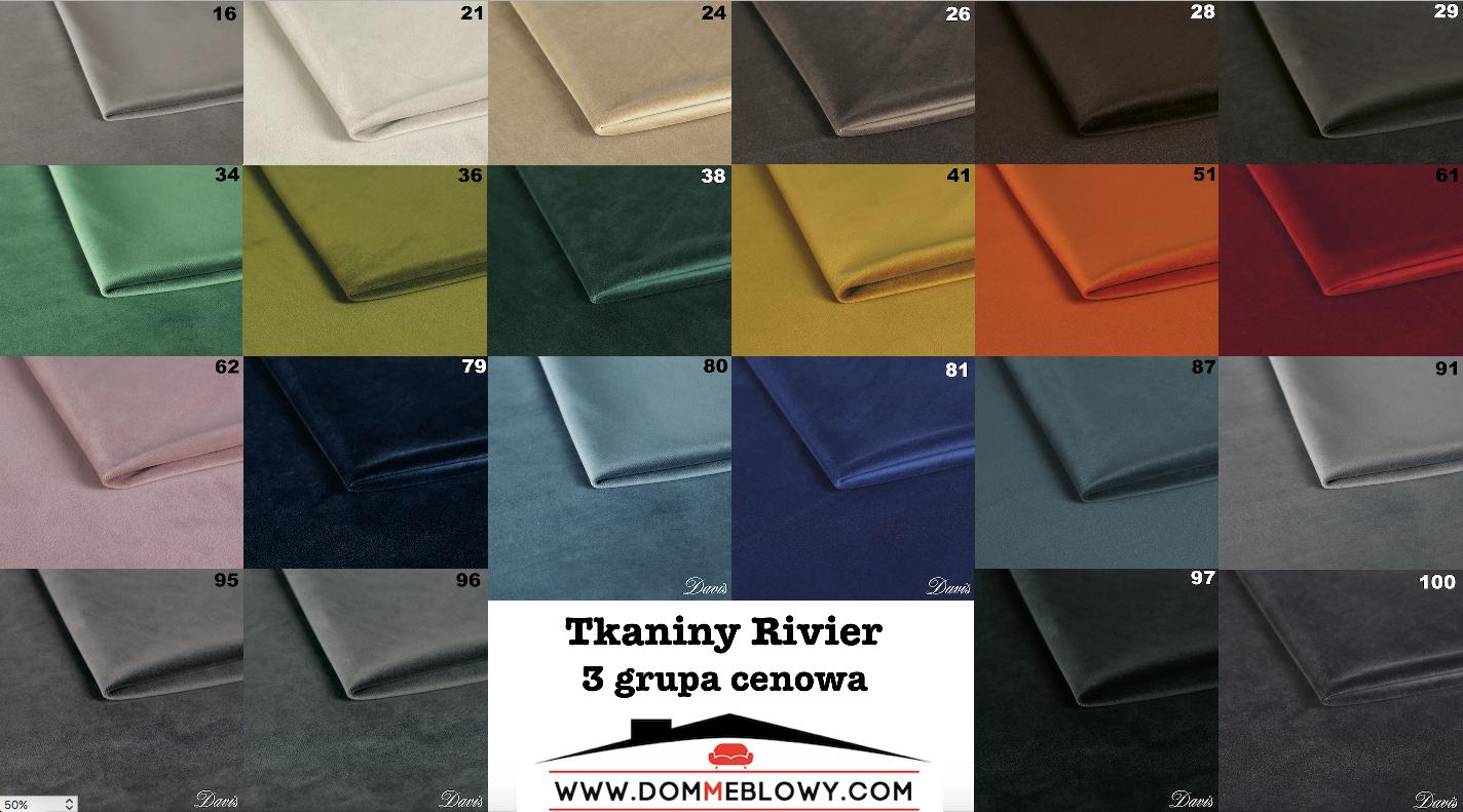 Tkaniny Riviera marki Davis dla mebli tapicerowanych Meblosoft