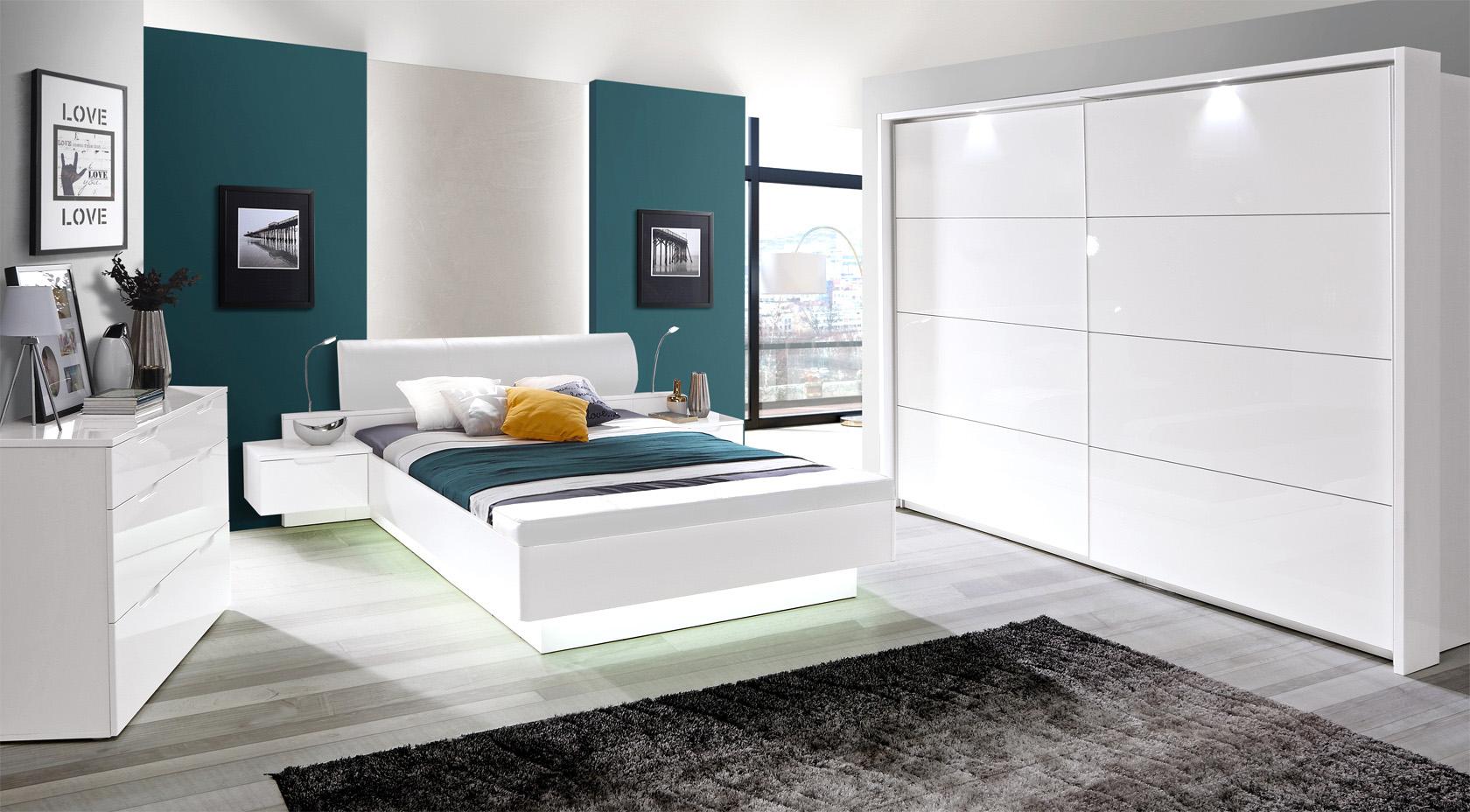 Meble systemowe do sypialni Starlet White marki Forte