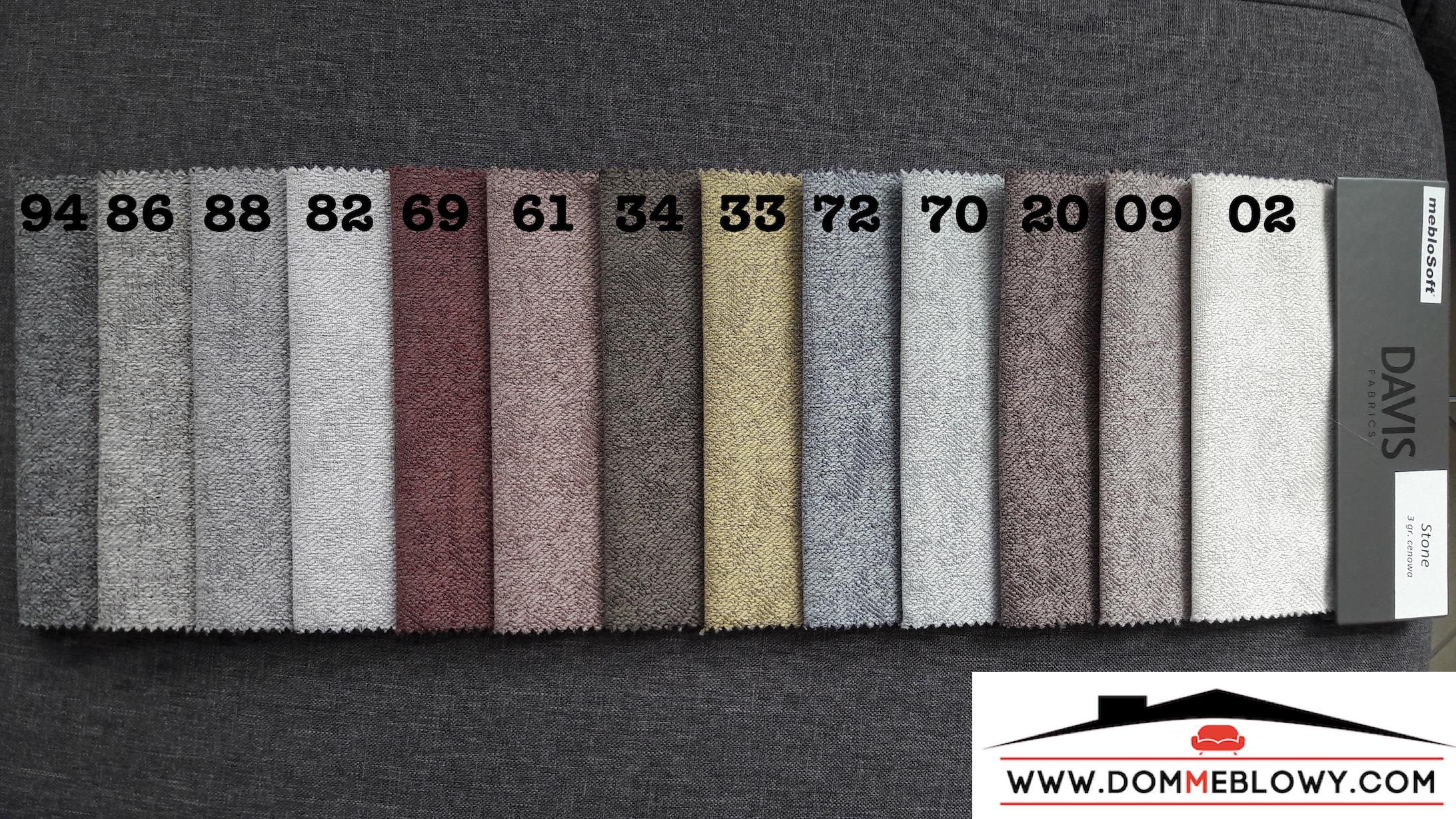 Tkaniny Stone marki Davis dla produktów tapicerowanych producenta Meblosoft
