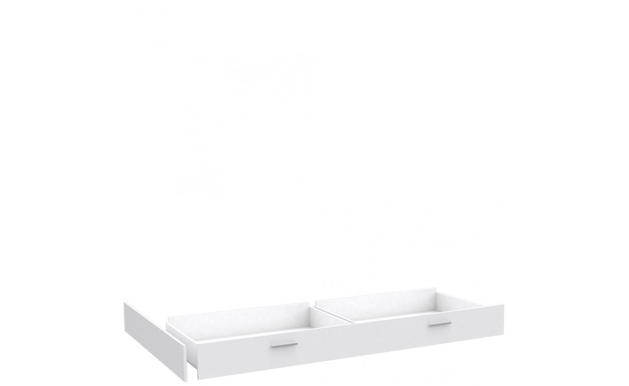 Łóżko młodzieżowe SNWL14 Snow marki Forte i szuflada do łóżka SNWL02