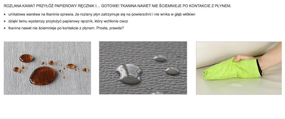 Czyszczenie tkanin Toccare dla mebli tapicerowanych producenta Meblosoft