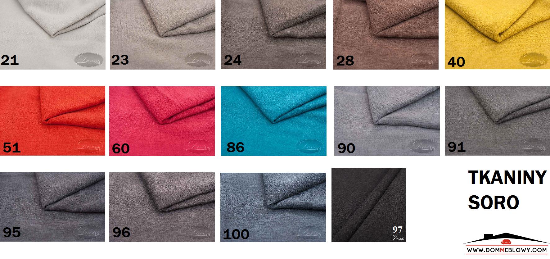 Tkaniny Soro dla mebli tapicerowanych producenta Meblosoft