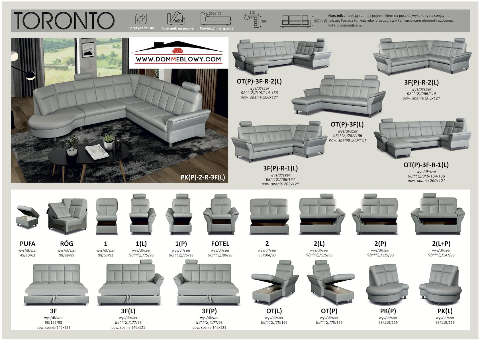 Narożniki modułowe TORONTO producenta Meblosoft